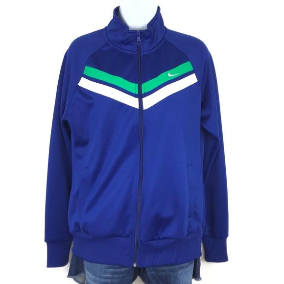 Nike Jackets & Blazers - NIKE Blue Long Sleeve Zip Up Jacket Large
